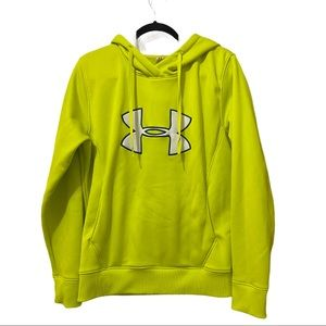 Under Armour neon green hoodie size large